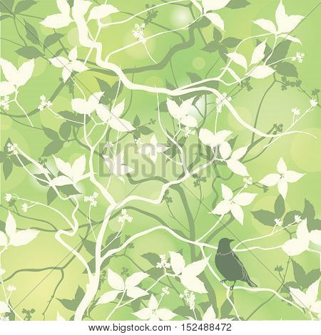 Birds-on-floral-background-3A