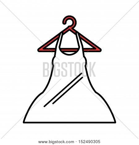 woman blouse hanging on hook vector illustration design