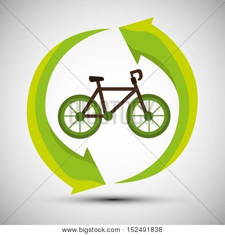 ecological concept bike trasnport icon vector illustration eps 10