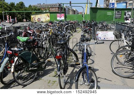 Copenhagen, Denmark - June 07, 2016: Rent a bike service