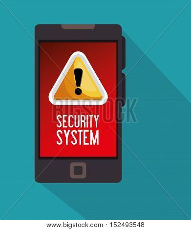 warning security system technology phone icon vector ilustration eps 10