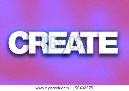 Create Concept Colorful Word Art