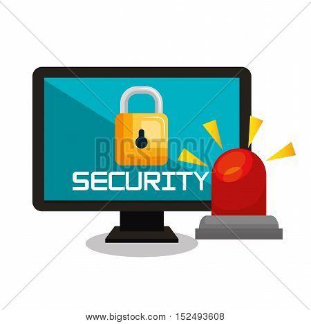 computer security data base lock vector illustration eps 10