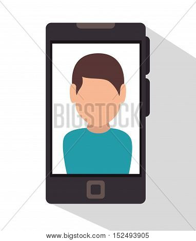 character smartphone icon desing vector illustration eps 10
