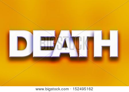 Death Concept Colorful Word Art