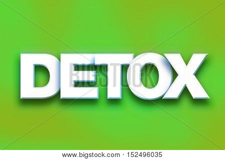 Detox Concept Colorful Word Art