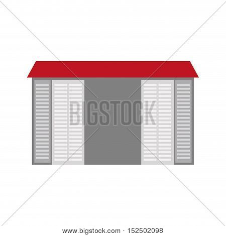 warehouse building logistic icon vector illustration design