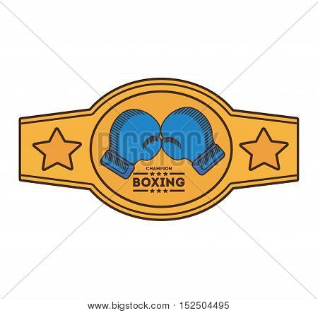 boxing championship belt isolated icon vector illustration design