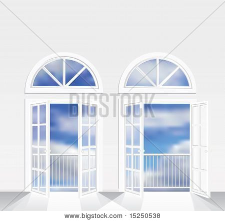 Two French Windows Clouds