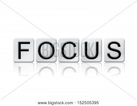 Focus Isolated Tiled Letters Concept And Theme