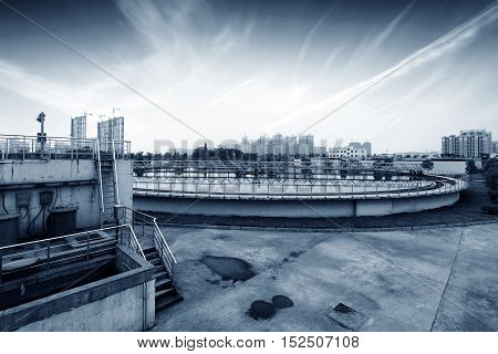 Modern industry, the city's sewage treatment plant.