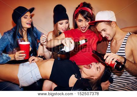 Sexual Drinking Games at Student Party