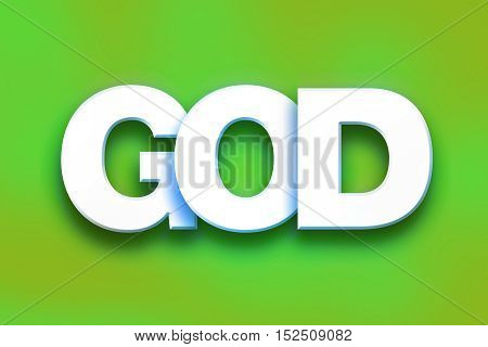 God Concept Colorful Word Art