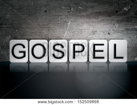 Gospel Tiled Letters Concept And Theme