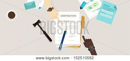 arbitration law dispute legal resolution conflict vector