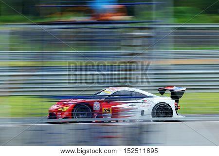 BURIRAM THAILAND - October 9: Super GT Series 2016 round 7 in Thailand at Chang International Circuit in Buriram United on October 7-9 2016 at the Buriram Thailand