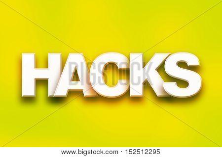 Hacks Concept Colorful Word Art