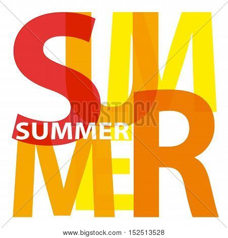 Vector summer. Isolated confused broken colorful text
