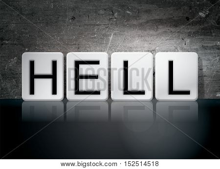 Hell Tiled Letters Concept And Theme