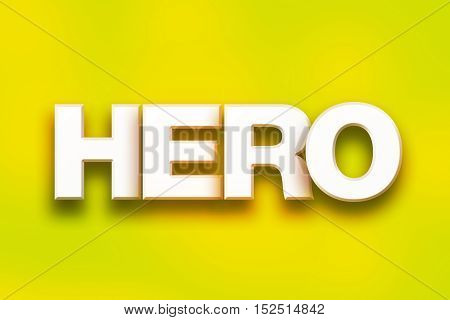 Hero Concept Colorful Word Art