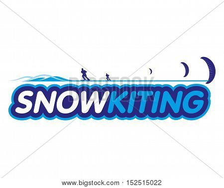 Vector Sticker Snowkiting
