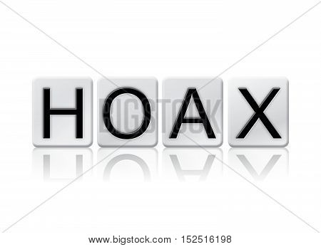 Hoax Isolated Tiled Letters Concept And Theme
