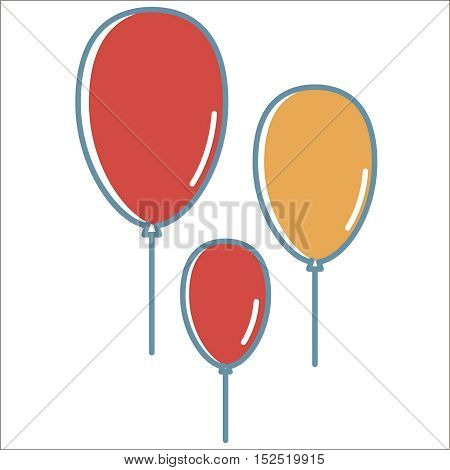 Ballon icon. Thin line vector ballon peefect for web and mobile applications, can be used as logo, pictogram, icon, infographic element. Vector Illustration.