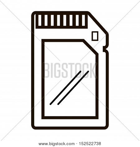 memory stick card isolated icon vector illustration design