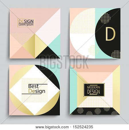 Set of elegant geometric banner template design, vector illustration. Applicable for Covers, Voucher, Posters, Flyers and Banner Designs.