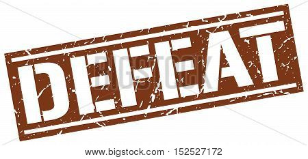 defeat. stamp. square grunge vintage isolated. sign