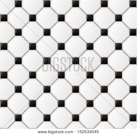 Illustration of floor tile design background concept