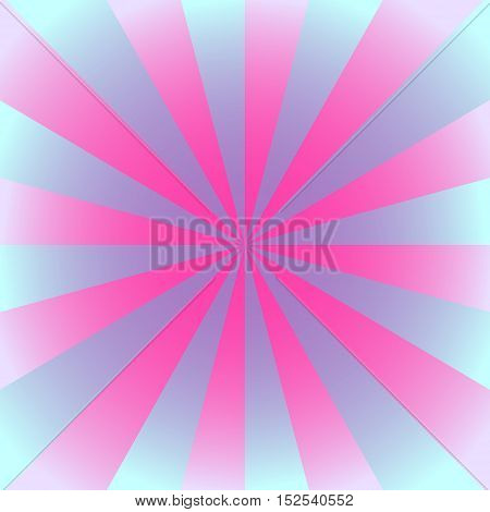 Radial background with radiating rays in violet and pink tones.