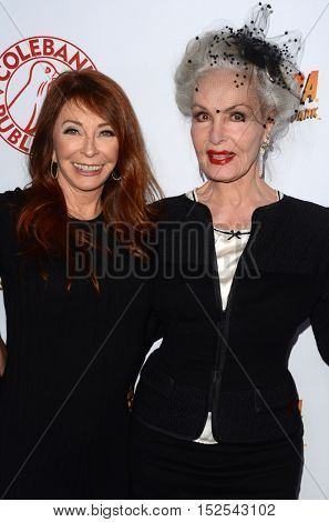 LOS ANGELES - OCT 17:  Cassandra Peterson, Julie Newmar at the