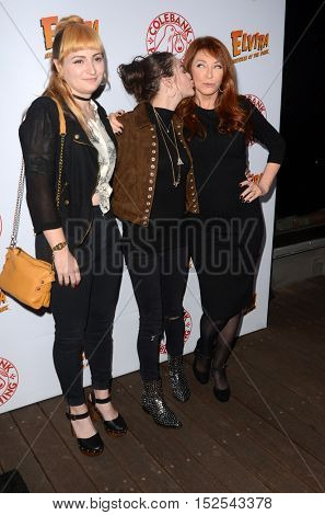 LOS ANGELES - OCT 17:  Chantal Claret Euringer, Frances Bean Cobain, Cassandra Peterson at the