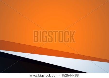 Orange color abstract multiply shape layer background