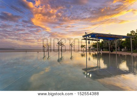 Cairns Lagoon at sunrise in tropical north Queensland
