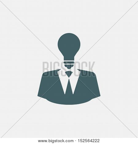 creative idea icon. startup entrepreneurship icon. knowledge power concept icon. light bulb icon. user icon