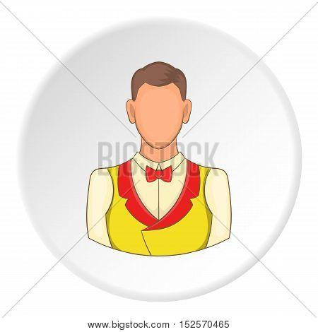 Croupier icon. Flat illustration of croupier vector icon for web