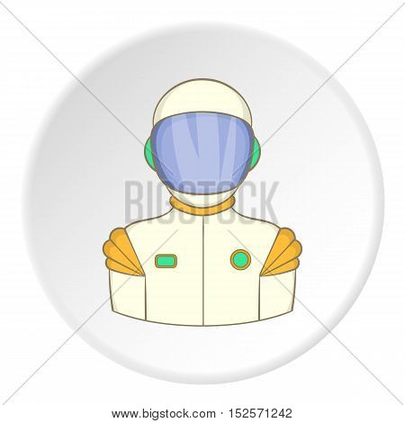 Astronaut icon. Flat illustration of astronaut vector icon for web