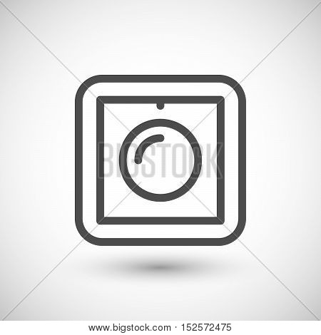 Dimmer line icon isolated on grey. Vector illustration