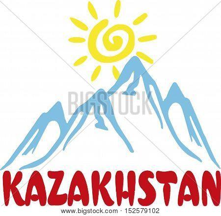 Republic of Kazakhstan logo art poster. Expo 2017