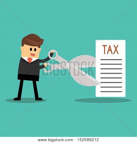 Tax Deduction. Business Concept, sign of tax