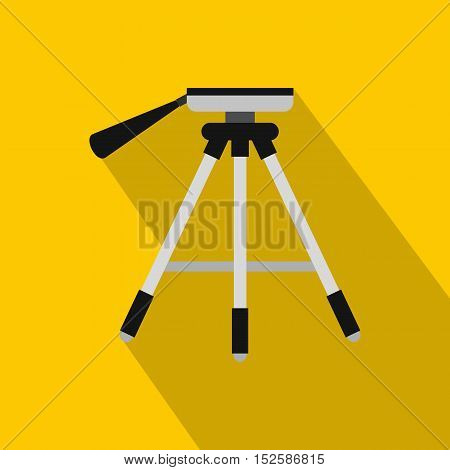 Tripod icon. Flat illustration of tripod vector icon for web isolated on yellow background