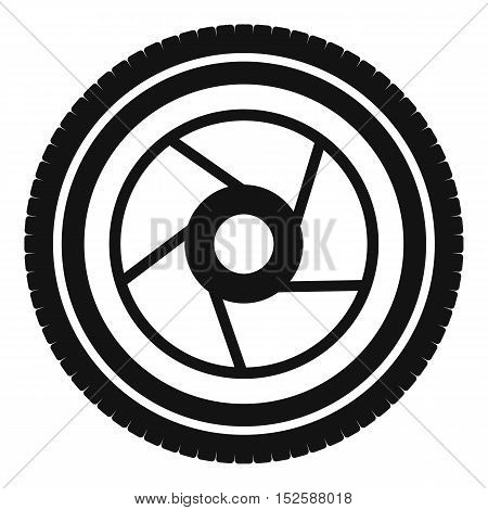 Camera aperture icon. Simple illustration of camera aperture vector icon for web