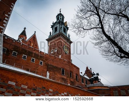 Famous Wawel Royal Castle in Krakow - Poland