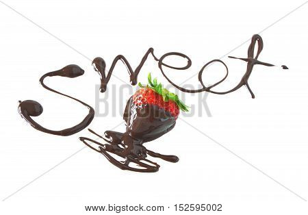 draw Sweet with chocolate and strawberry Fondu.