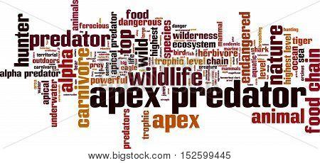 Apex predator word cloud concept. Vector illustration