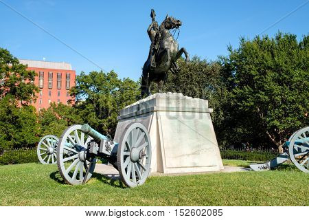 The Andrew Jackson statue at Lafayette Park, right across the White House in Washington D.C.