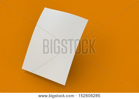 Mock Up Poster On White Background.