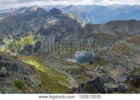 Amazing Landscape from Malyovitsa peak to Elenski lakes, Rila Mountain, Bulgaria